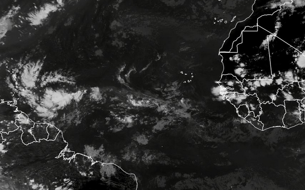 photos satellite IR de l'ITCZ, nébulosité du Pot-au-Noir